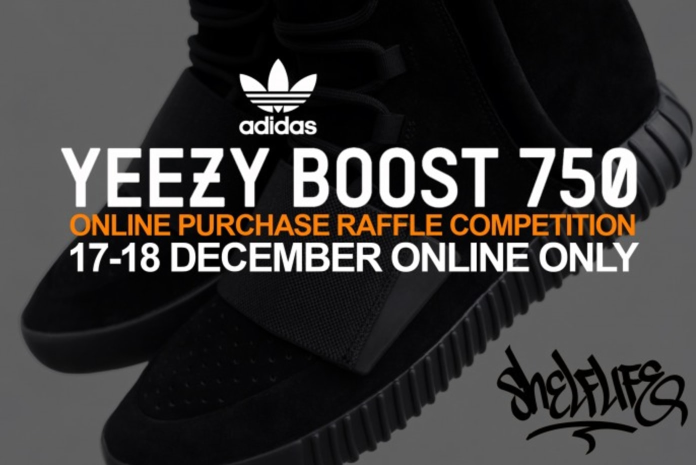 Yeezy Boost 750 Triple Black - Online Purchase Raffle Competition
