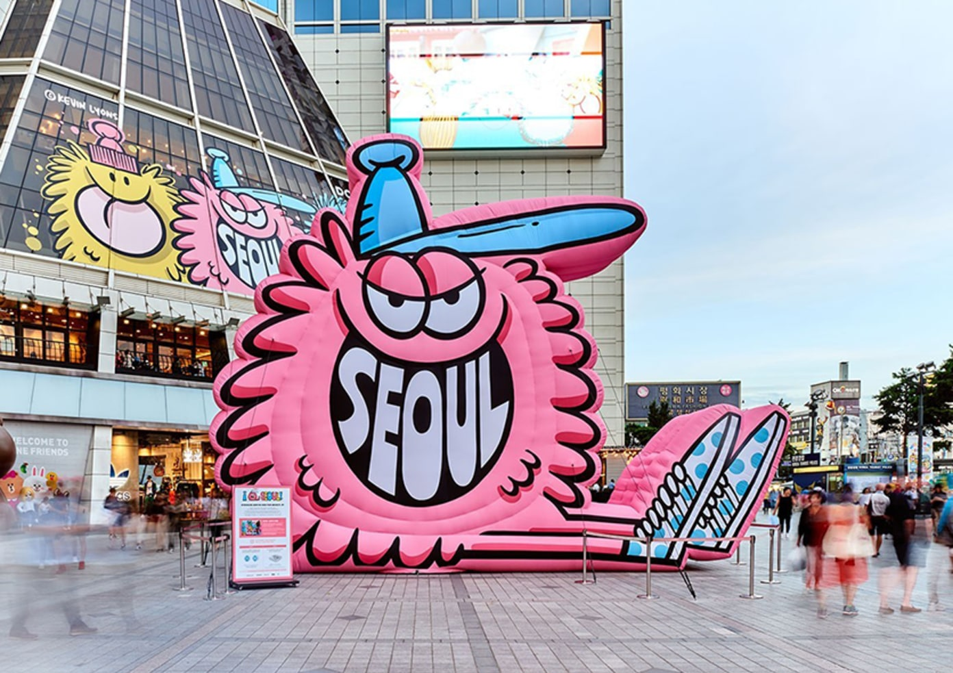Kevin Lyons Takes Over a Mall in Seoul