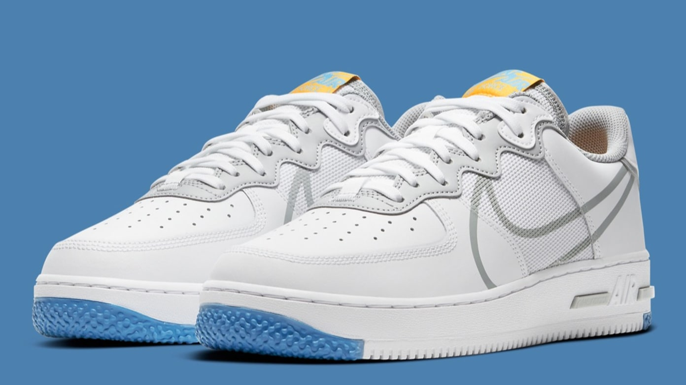 Nike Air Force 1 React - Light Smoke Grey/University Gold