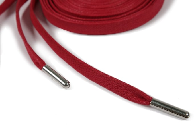 Binder Flat Waxed Laces Metal Aglets 160cm - default