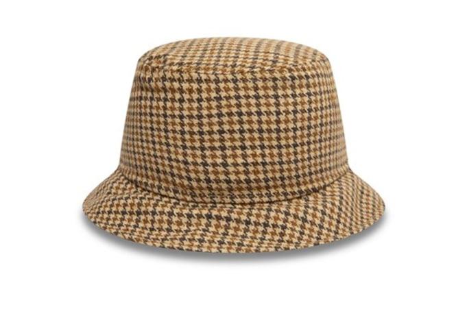 New Era Houndstooth Check Bucket Hat - default