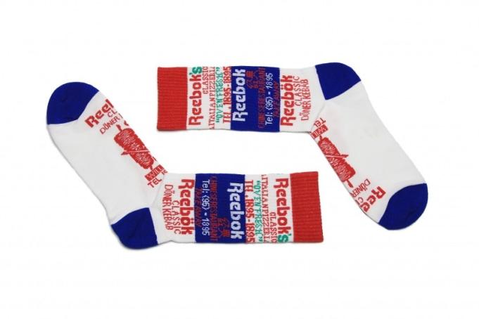 Reebok 'International Food' Graphic Crew Socks - default