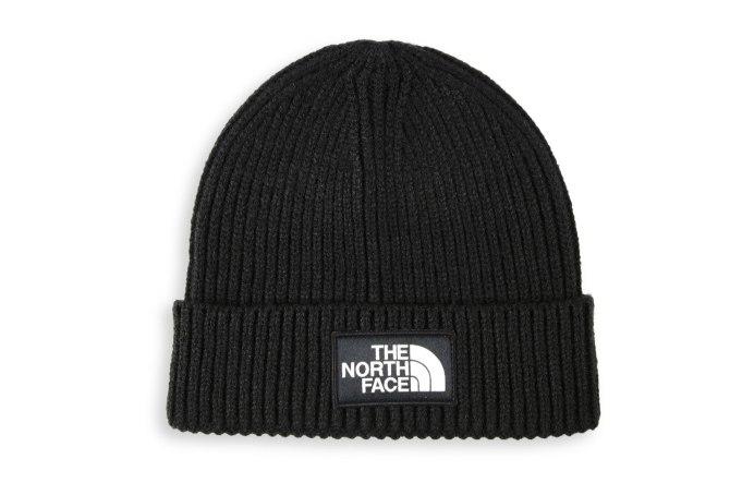 The North Face Logo Box Cuffed Beanie - default