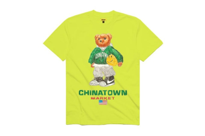 Chinatown Market Smiley Sketch Basketball Bear Tee - default