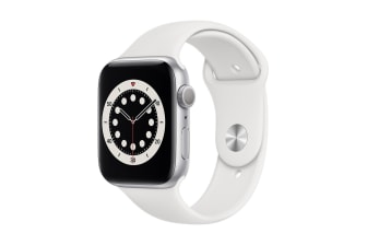 Apple Watch Series 6 44mm Silver Aluminium Case with White Sport Band