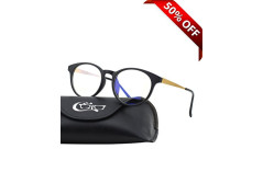 Buy this discounted product CGID CT28 Premium TR90 Frame Blue Light Blocking Glasses,Anti Glare Fatigue Blocking Headaches Eye Strain,Safety Glasses for Computer/Phone/Tablets,Round Flexible Unbreakable Frame,Transparent Lens on Amazon