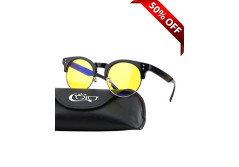 Buy this discounted product CGID CY43 Premium TR90 Frame Blue Light Blocking Glasses,Anti Glare Fatigue Blocking Headaches Eye Strain,Safety Glasses for Computer/Phone/Tablets,Flexible Unbreakable Frame,Yellow Lens on Amazon