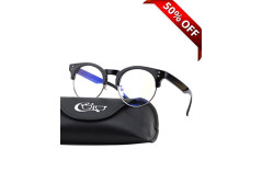 Buy this discounted product CGID CT43 Premium TR90 Frame Blue Light Blocking Glasses,Anti Glare Fatigue Blocking Headaches Eye Strain,Safety Glasses for Computer/Phone/Tablets,Flexible Unbreakable Frame,Transparnet Lens on Amazon