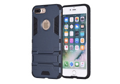 Buy this discounted product iPhone 7 Plus Case, REENUO Iron Man Kickstand Shock Absorbing Hybrid Dual Layer Armor Defender Ultra Slim Cover Shell Hard Plastic & Soft Silicone for iPhone 7 Plus (Navy Blue) on Amazon