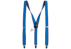 Buy this discounted product Sky Blue-pink slim suspenders Y-back style braces 2.5 cm wide on Amazon