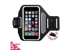 "Buy this discounted product FREE Headset Clip +ID/Card/Cash Holder,Tripky Sports Armband for iPhone 6 Plus, 6s Plus (5.5""), Galaxy S6/S5, Note 4 Touch Compatible , Water Resistant For hiking,Biking,Walking(Black) on Amazon"