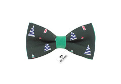 Buy this discounted product Fir-tree bow tie green color Christmas pattern for adult and children lip-on bow tie on Amazon