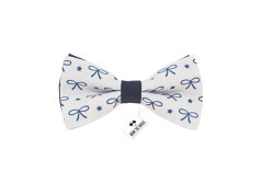 Buy this discounted product New Christmas bow tie navy blue bow pattern for adult and children universal size on Amazon