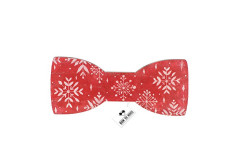 Buy this discounted product Painted snowflakes bow tie red color Christmas pattern for New Year adult on Amazon