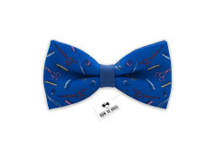 Buy this discounted product Barber shop bow tie blue color mens brush and scissors bow tie on Amazon
