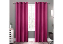 Buy this discounted product 95 inch Long X 52 inch Wide Sweet Girl Rose Pink Color 1 Panel Curtains and Drapes, Thermal Insulated Solid Grommets Best Blackout Window Drapery for Bedroom Living Room (52 inch Wide, Rose Pink) on Amazon