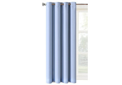 Buy this discounted product 95 inch Long X 52 inch Wide Charming Light Blue Color 1 Panel Curtains and Drapes, Thermal Insulated Solid Grommets Best Blackout Window Drapery for Bedroom Living Room (52 inch Wide L, Charming Blue) on Amazon
