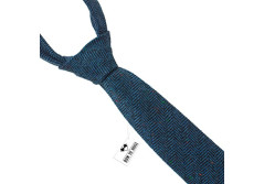 Buy this discounted product Wool necktie | Blue Wool Tie | Narrow blue necktie | Dark blue Slim necktie | Skinny blue tie | Tweed necktie on Amazon