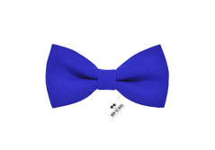 Buy this discounted product Men's pre-tied solid electric blue color gabardine bow tie clip-on unisex - Many colors (Adult, Electric Blue) on Amazon
