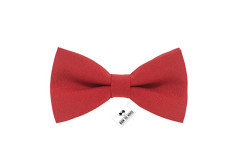 Buy this discounted product Men's pre-tied red solid color bow tie gabardine material clip-on kind unisex - (Adult, Red) on Amazon
