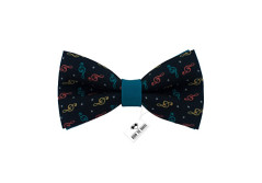 Buy this discounted product Musical bow tie | Treble clef bow tie | Blue-Green Bow tie | Gabardine bow tie | Party bow tie | Music bow tie | Turquoise bow tie on Amazon