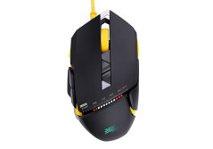 Buy this discounted product Hcman Gaming Mouse Programmable Mice USB Wired Laser 3000 DPI 7 Buttons with 5 Adjustable levels Omron Switches for PC Mac (Black) on Amazon