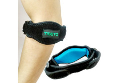 Buy this discounted product Tibeto Premium Elbow Compression Sleeve - 1 Pack Arm Support For Women & Men-Velcro Closure- One Size For All - Tennis Elbow Brace For Golf, Arthritis & Tendonitis- Free E-Book on Amazon