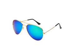 Buy this discounted product Desen Unisex Adult Aviator Sunglasses (Gold Green) on Amazon