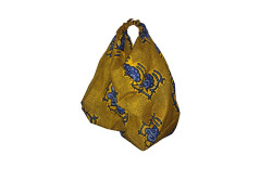 Buy this discounted product Elyse Robinson Handmade Cotton Handbag Purse (Gold) on Amazon