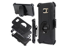 Buy this discounted product S7 Edge Case, Galaxy S7 Edge Case,MOOST Hybrid Combo Armor Heavy Duty Rugged Shockproof Case with Built-in Rotating Kickstand Swivel Belt Clip Holster for Galaxy S7 Edge (Black) on Amazon