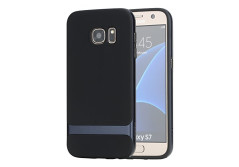 Buy this discounted product S7 Case, Galaxy S7 Case, ROCK® MOOST [Royce Series] Dual Layer Thin & Slim Shockproof Case for Samsung Galaxy S7 [Black / Navy Blue] on Amazon