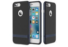 Buy this discounted product iPhone 7 Plus (5.5 Inch) Case, ROCK MOOST [Royce Series] Dual Layer Thin & Slim Shockproof Case for iPhone 7 Plus [Black / Navy Blue] on Amazon