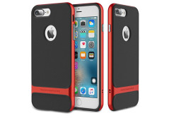 Buy this discounted product iPhone 7 Plus (5.5 Inch) Case, ROCK MOOST [Royce Series] Dual Layer Thin & Slim Shockproof Case for iPhone 7 Plus [Black / Red] on Amazon