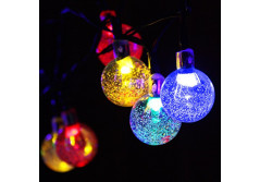 Buy this discounted product MEGAVISION Solar Powered Globe String Lights 20ft (6m) 2 Light Model 30 LED Bubble Lights with Solar Panel for Christmas Birthday Party Decoration(Mulit-Color) on Amazon