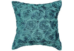 Buy this discounted product Avarada Solid Floral Bouquet Throw Pillow Cover Decorative Sofa Couch Cushion Cover Zipper 16x16 Inchs (40x40 cm) Teal on Amazon