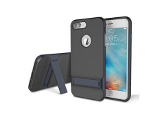 Buy this discounted product iPhone 7 Plus (5.5 inch) Case, ROCK MOOST [Royce Series] Dual Layer Shockproof Thin & Slim Case With Kickstand for iPhone 7 Plus (2016) (5.5inch) [Black / Navy Blue] on Amazon
