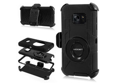 Buy this discounted product Galaxy S7 Case,MOOST Heavy Duty Hybrid Shockproof Case With Kickstand and Belt Clip Holster for Samsung Galaxy S7 (Black) on Amazon
