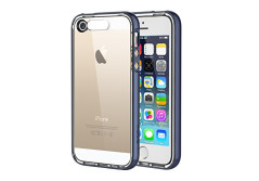 Buy this discounted product iPhone SE Case, ROCK MOOST [Light Tube Series] Hybrid Case Cover for iPhone SE / iPhone 5s with Incoming Call Flash Function(Navy Blue) on Amazon