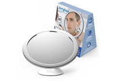 Buy this discounted product Jerrybox Fogless Shower Mirror for Shaving and Makeup, AdjustableCollapsible Bathroom Mirror with Powerful Locking Suction Cup, 360 Degree Rotation, White,Makes a Great Gift on Amazon