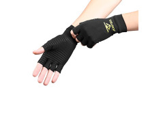 Buy this discounted product Jerrybox Copper Infused Arthritis Compression Gloves Relieve Arthritis Symptoms, Increase Circulation, Reduce Inflammation & Enhance Recovery (media) on Amazon