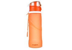 Buy this discounted product JerryBox Collapsible Water Bottle - 750ml, Silica Gel, Medical Grade, BPA Free, FDA Approved, Leak Proof Silicone Foldable Sports Bottle, for Sport, Outdoor, Travel, Camping, Picnic(26 oz) on Amazon