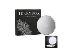Buy this discounted product Jerrybox Vanity Mirror 1X/5X Magnification Illuminated Makeup Mirror Double Sided LED Cosmetic Mirror Ideal for Beauty Bedroom Shaving Traveling on Amazon