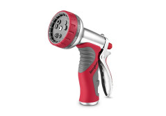 Buy this discounted product Garden Hose Nozzle,9 Patterns Jerrybox Heavy Duty Hand Sprayer with Pistol Grip Trigger and Flow Control Knob, Perfect for Watering Gardens, Bathing Pets, Washing Cars, Cleaning Pools, 100% Satisfaction Guarantee on Amazon