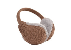 Buy this discounted product Ear muff Unisex crocheted ear warmers adjustable Winter Fleece warm earmuffs (Coffee) on Amazon