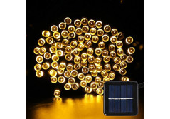 Buy this discounted product Solar Fairy String Lights - Solar Garden Lights 200 LED 8 Modes Outdoor Waterproof Decorative Lights for Outdoor, Gardens, Homes, Party (Warm White) on Amazon
