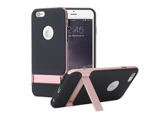Buy this discounted product iPhone 6s Plus(5.5 inch) Case, ROCK® MOOST [Royce Series] Dual Layer Shockproof Thin & Slim Case With Kickstand for iPhone 6S Plus (2015) &iPhone 6 Plus (2014) (5.5inch) [Black / Rose Gold] on Amazon
