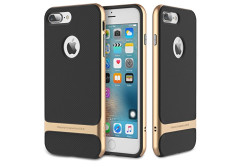 Buy this discounted product iPhone 7 Plus (5.5 inch) Case, ROCK MOOST [Royce Series] Dual Layer Thin & Slim Shockproof Case for iPhone 7 Plus [Black / Champagne Gold] on Amazon