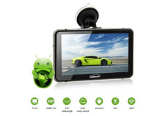 Buy this discounted product CARCHET 7 Inch Android 4.4 GPS 1080P HD DVR with Dash Cam Touchscreen FM Transmitter on Amazon