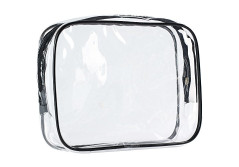 Buy this discounted product ScivoKaval Clear Carry-On Travel Toiletry Bag, TSA Approved 3-1-1 Airline, 1-Quart Sized with Zipper for Men and Women on Amazon