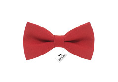 Buy this discounted product Bow Tie House Men's Pre-Tied Bow Tie in Classic Gabardine (Small, Red) on Amazon